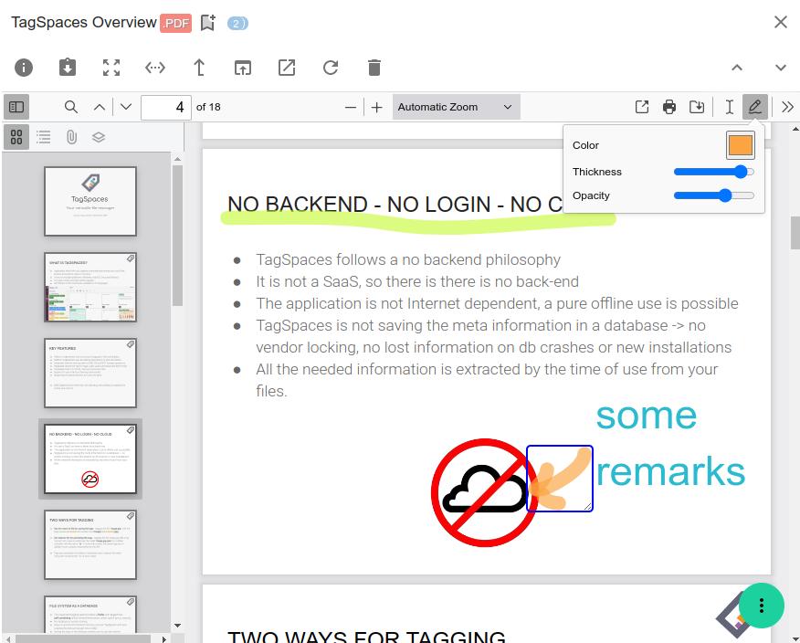 Screenshot of the viewerPDF